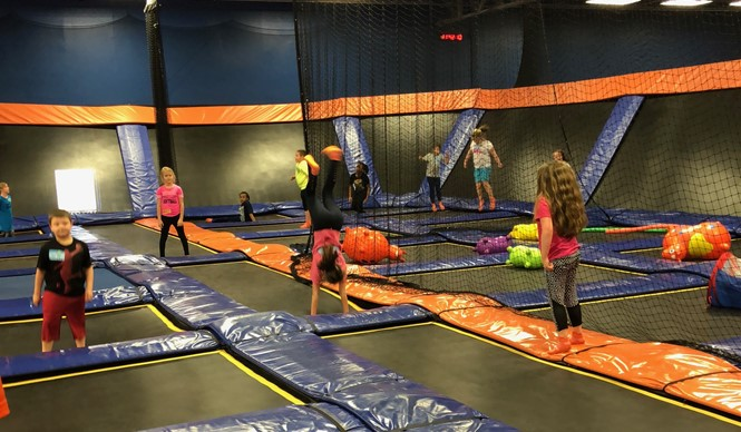 AES Fitness Buddies enjoy a reward trip to Sky Zone!
