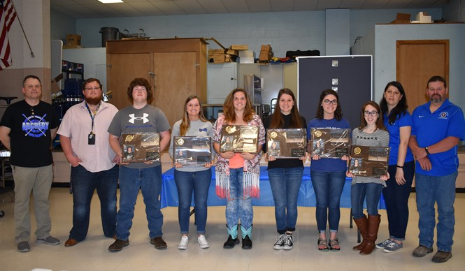 Senior Archers are honored at the annual Bulldog Archery Banquet.