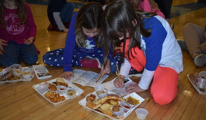 Students try new foods and vote for their favorites at the 6th annual Taste Testing!