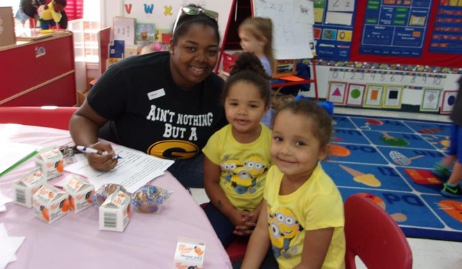 Preschool students honored their mothers during the Muffins with Moms event at ECC.