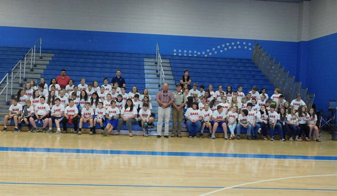 112 sixth grade students graduated from the DARE Program at Clinton County Middle School.