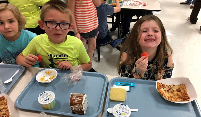 Students at ECC and AES had the opportunity to try roasted sweet potatoes and watermelon during Try Day.