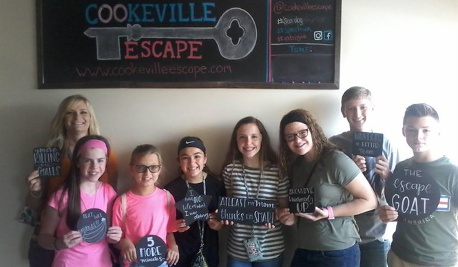 Gifted and talented students from CCMS tried to break out at Cookeville Escape.