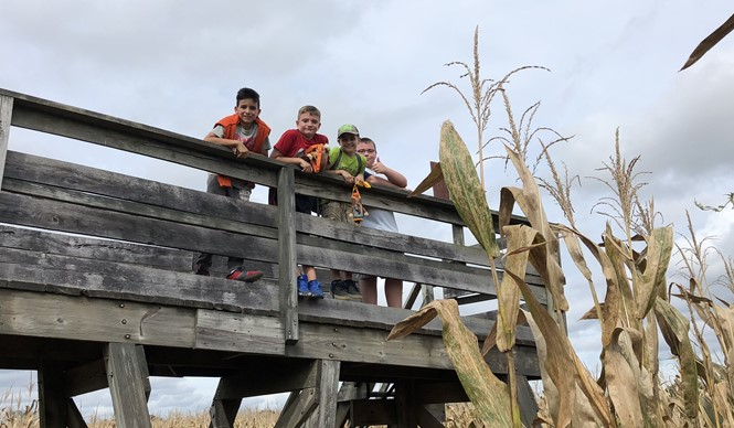 The Clinton County Middle School 5th grade class spent the day at Amazin' Acres for their annual field trip.