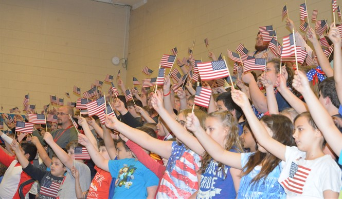 AES students honored hometown hero Garlin Murl Conner at the annual Veterans Day Program.