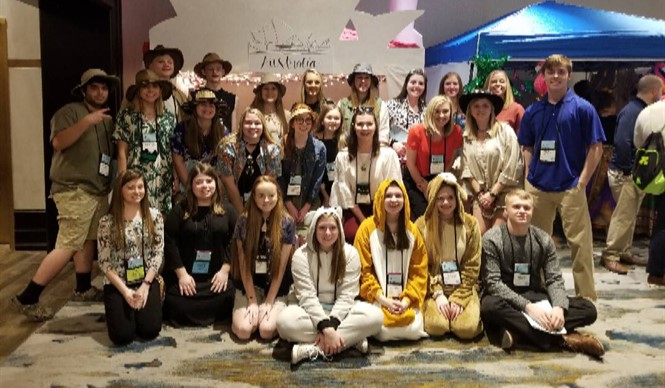 The Clinton County High School delegation represented Australia and Papua New Guinea at the Kentucky United Nations Assembly (KUNA).