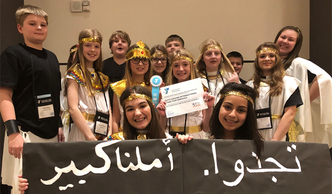The Clinton County Middle School delegation represented Egypt at the Kentucky United Nations Assembly (KUNA).
