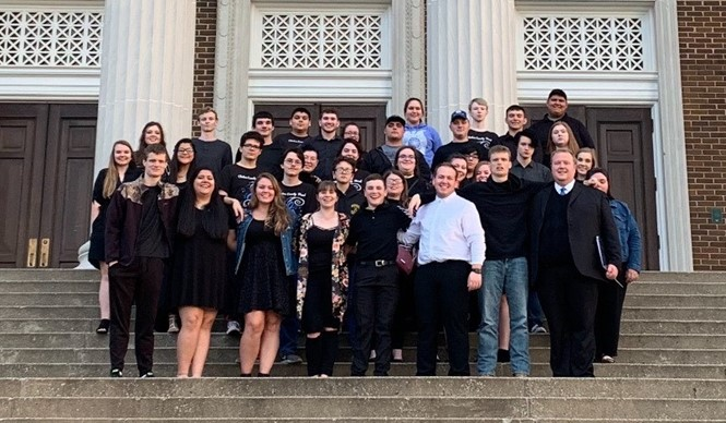 The Clinton County High School band performed at KMEA Concert Assessment at Western Kentucky University in Bowling Green.