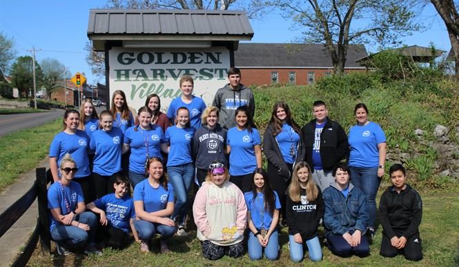 The Lead to Succeed students from Clinton County Area Technology Center completed a service-learning project at Golden Harvest Village.