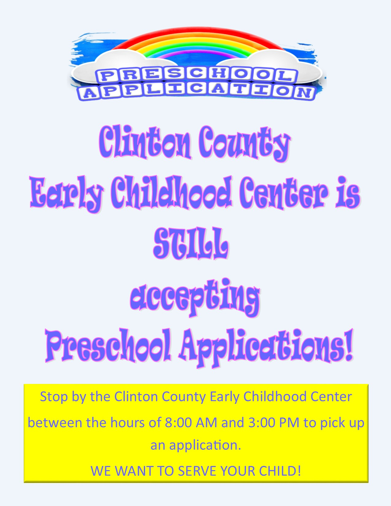 It's not too late! You can still register students for Preschool!