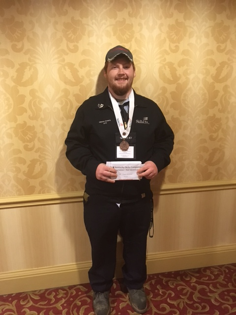CCATC student Billy Abbott received 3rd place Bronze in the Transportation Tool Identification competition at the Kentucky SkillsUSA Leadership and Skills Conference.