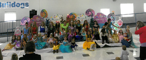"Cheerleaders host the annual ""Breakfast with Princesses."""