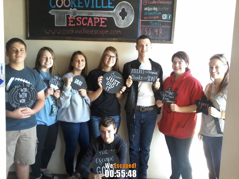 On October 4th & 5th, gifted and talented students from CCMS and CCHS tried to break out at Cookeville Escape in Cookeville, Tennessee.