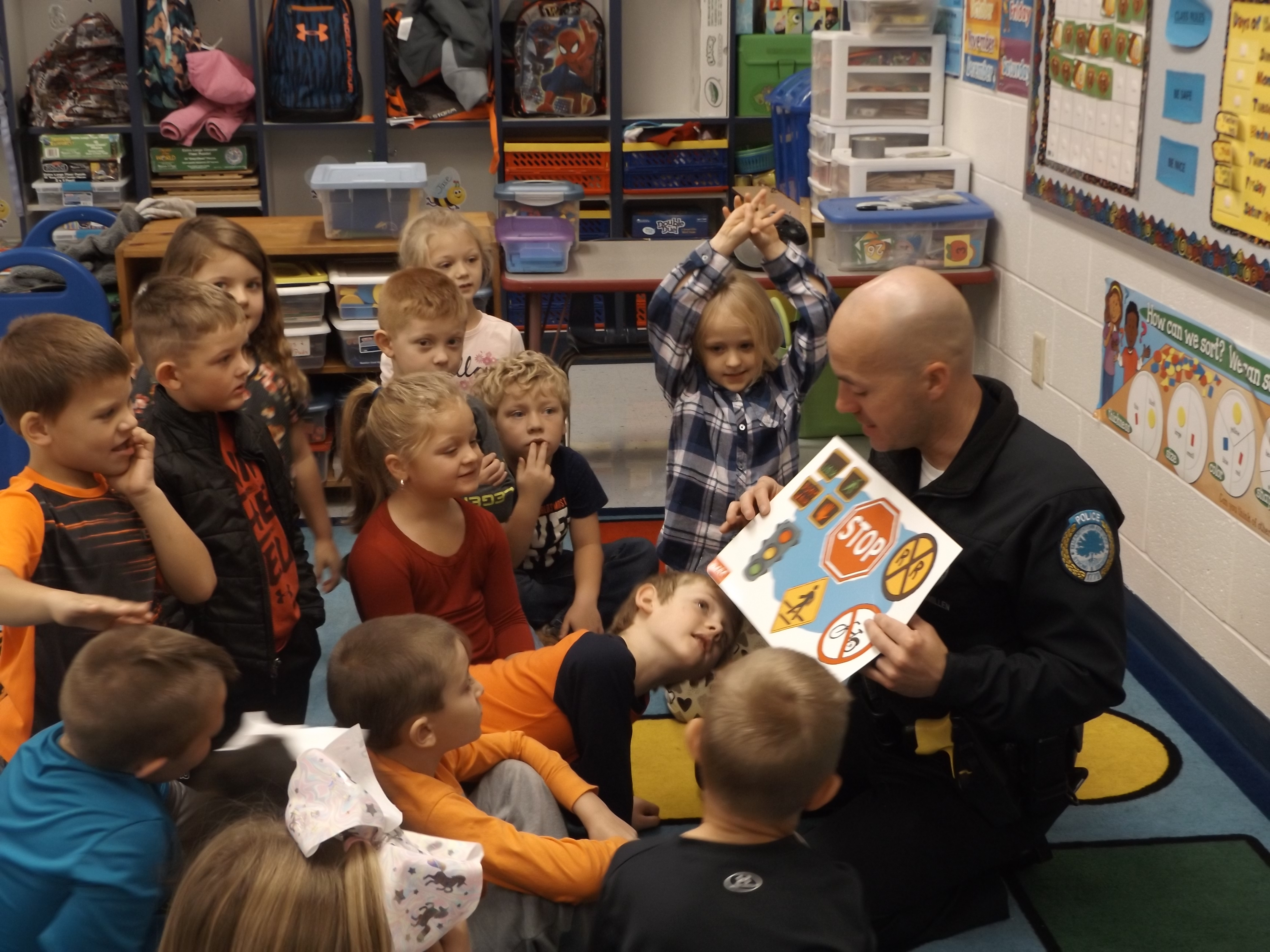 On Thursday, November 15th, officers with the DARE Program visited the Clinton County Early Childhood Center to talk to the students about making good choices.