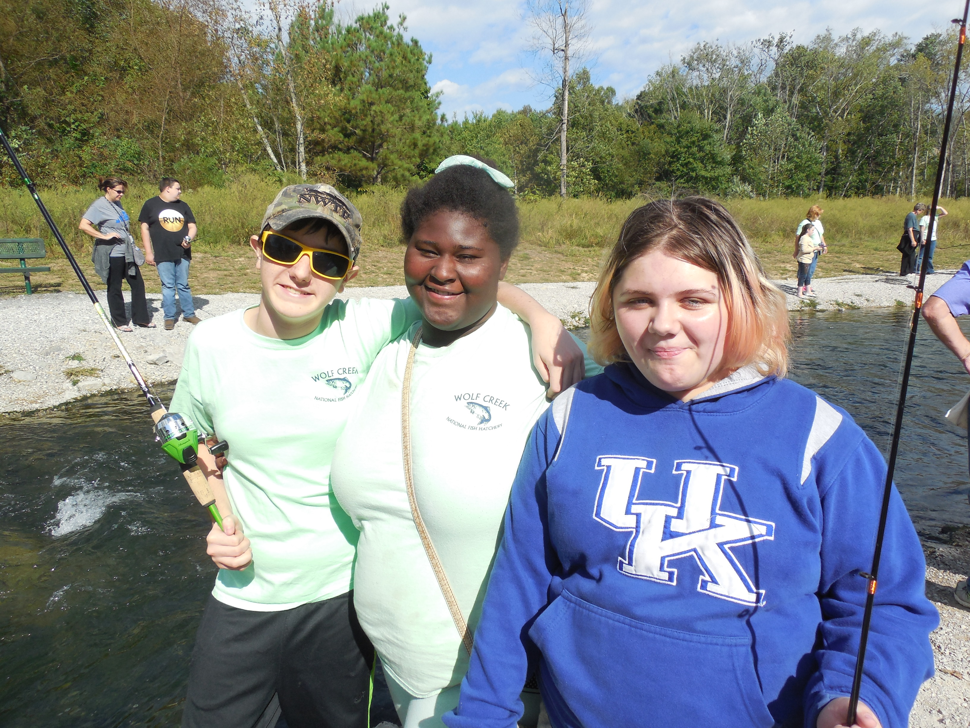 The 9th Annual Reaching for Rainbows Fishing Derby for students in Clinton and Russell Counties was held on Wednesday, September 28th at Wolf Creek National Fish Hatchery.