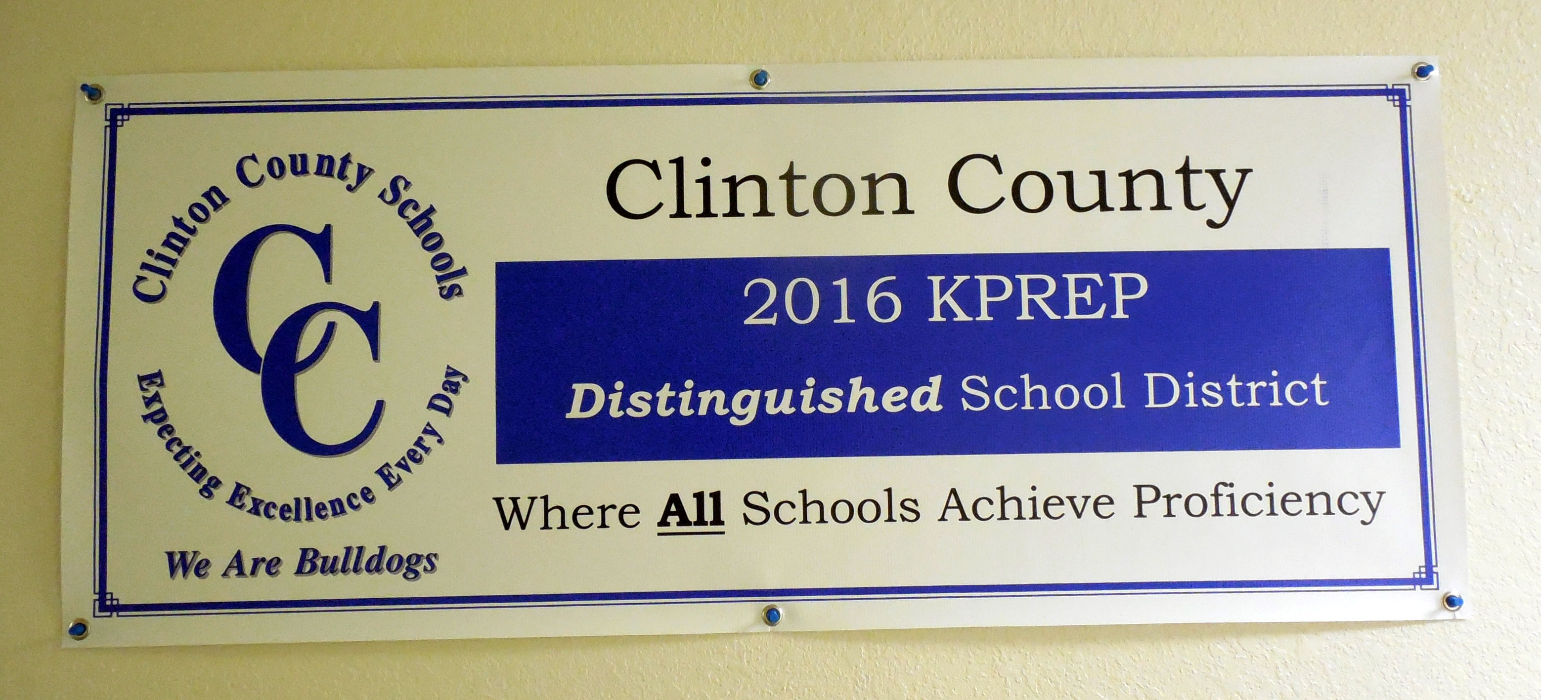 The 2016 KPREP scores have been released and the Clinton County School District has earned the classification of Distinguished.