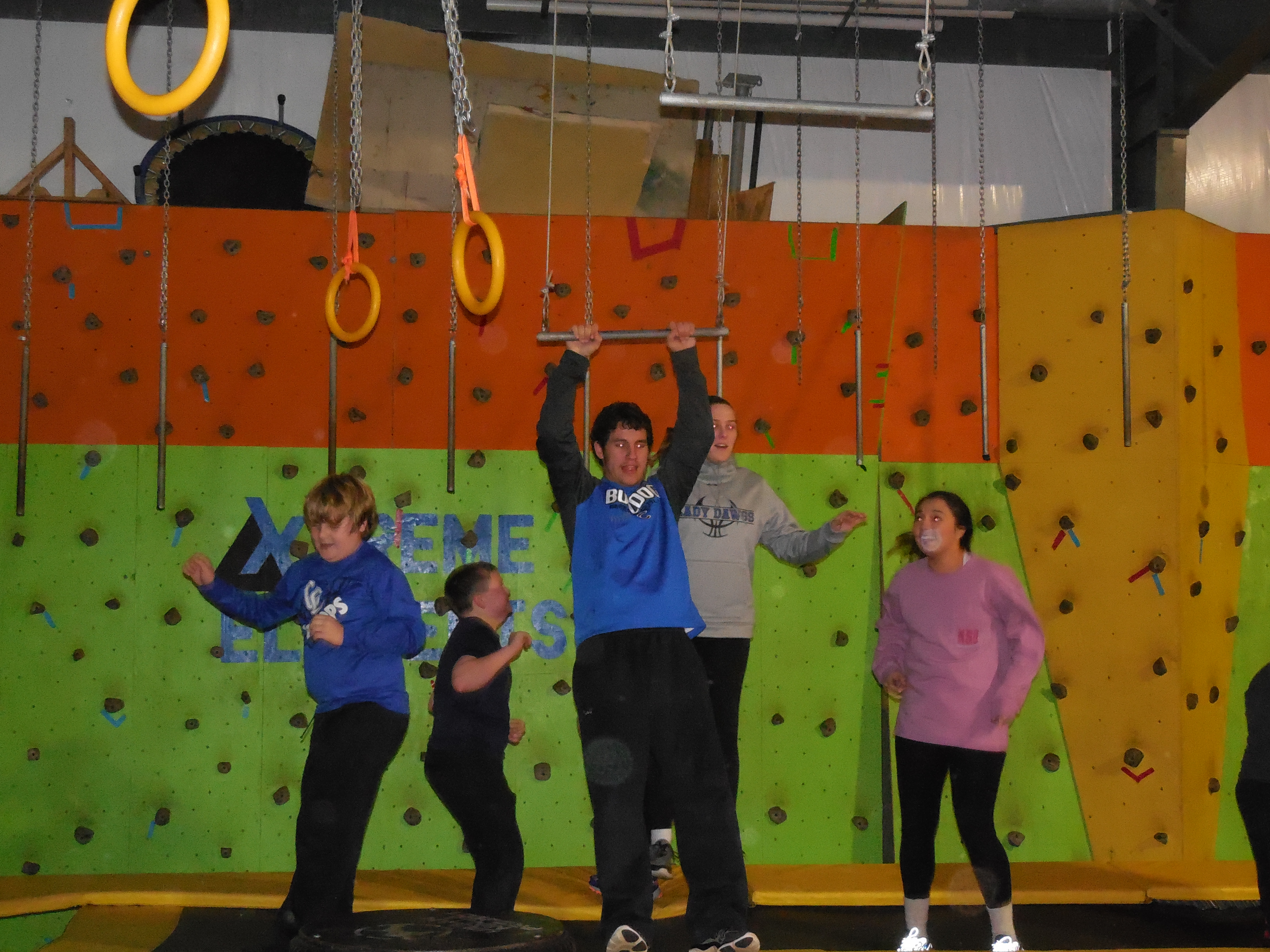 On December 14th, Clinton County Healthy Hometown Fitness Buddies were rewarded with a trip to the Urban Ninja Project gym in Lexington to work out and celebrate their hard work throughout the semester.