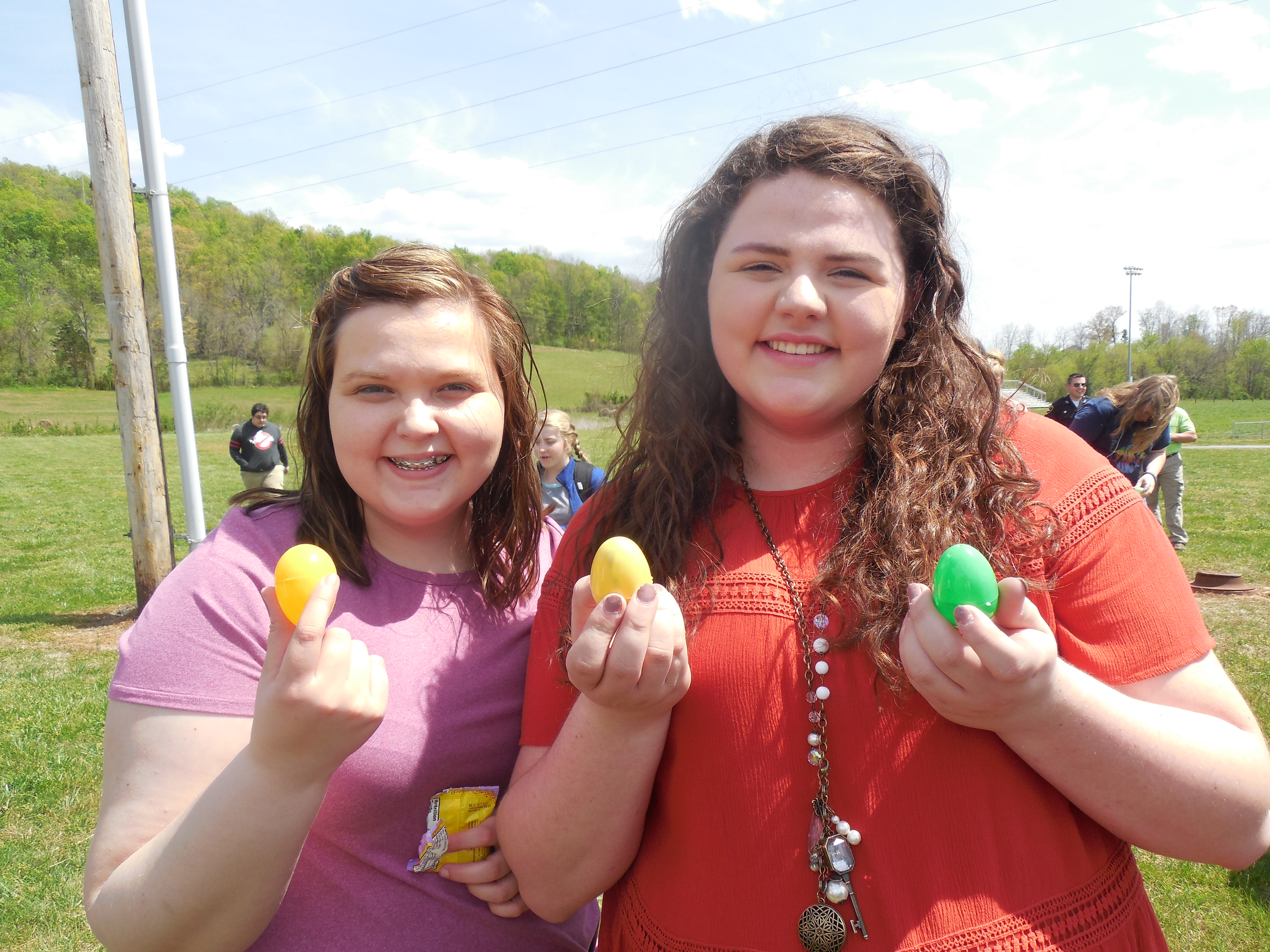 Clinton County High School students who are College and Career Ready were rewarded with ice cream sundae buffet and Easter egg hunt on Friday, April 14th.