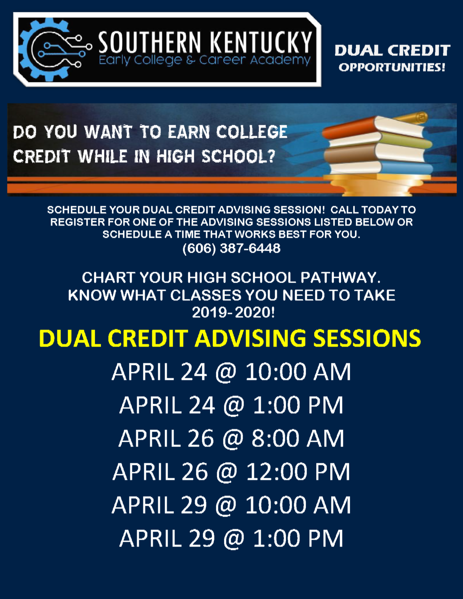 Check out these DUAL CREDIT opportunities at SoKY ECCA!