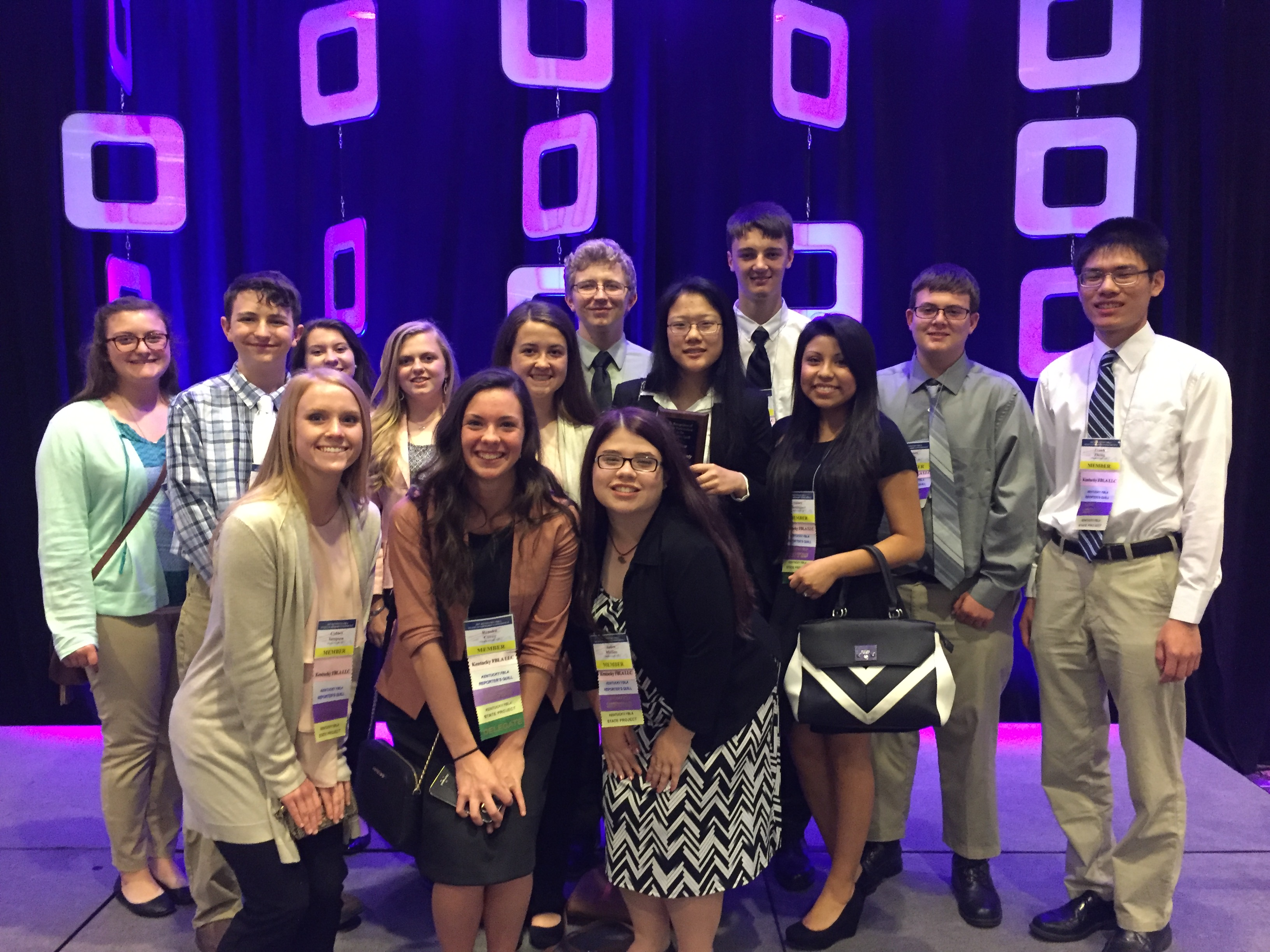 On April 17-19, 2017, fourteen members of CCATC's FBLA chapter attended the State Leadership Conference at the Galt House in Louisville, Kentucky.