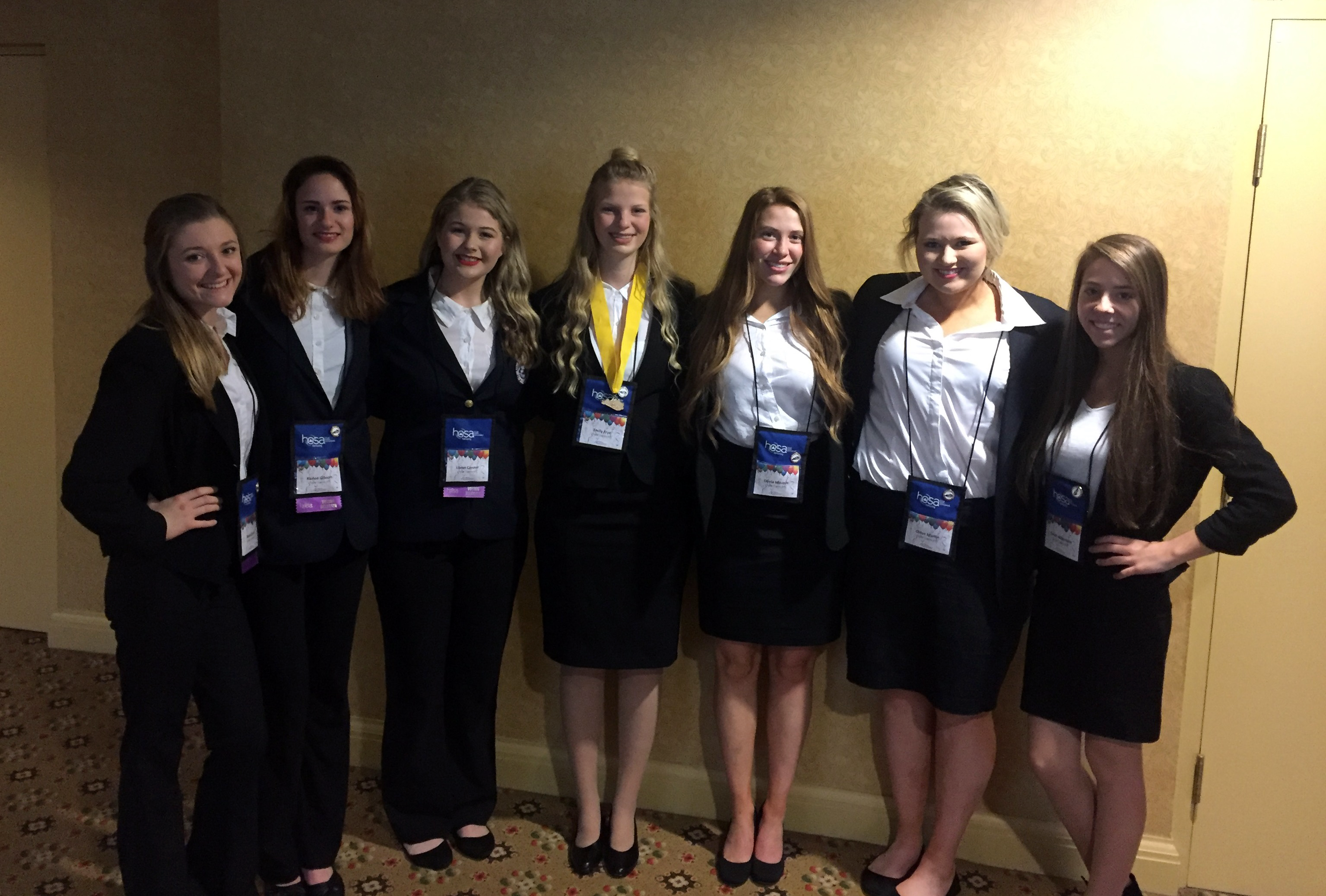 Members of the CCATC HOSA organization competed at the State Leadership Conference, where senior Emily Frye won first place in the Home Health Aide competition.