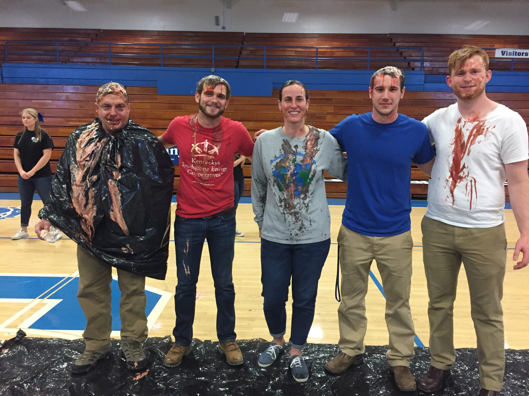 "The CCHS Relay for Life team raised over $500.00 with their contest for teachers or administrators to take a ""Pie in the Face"" for the worthy cause."