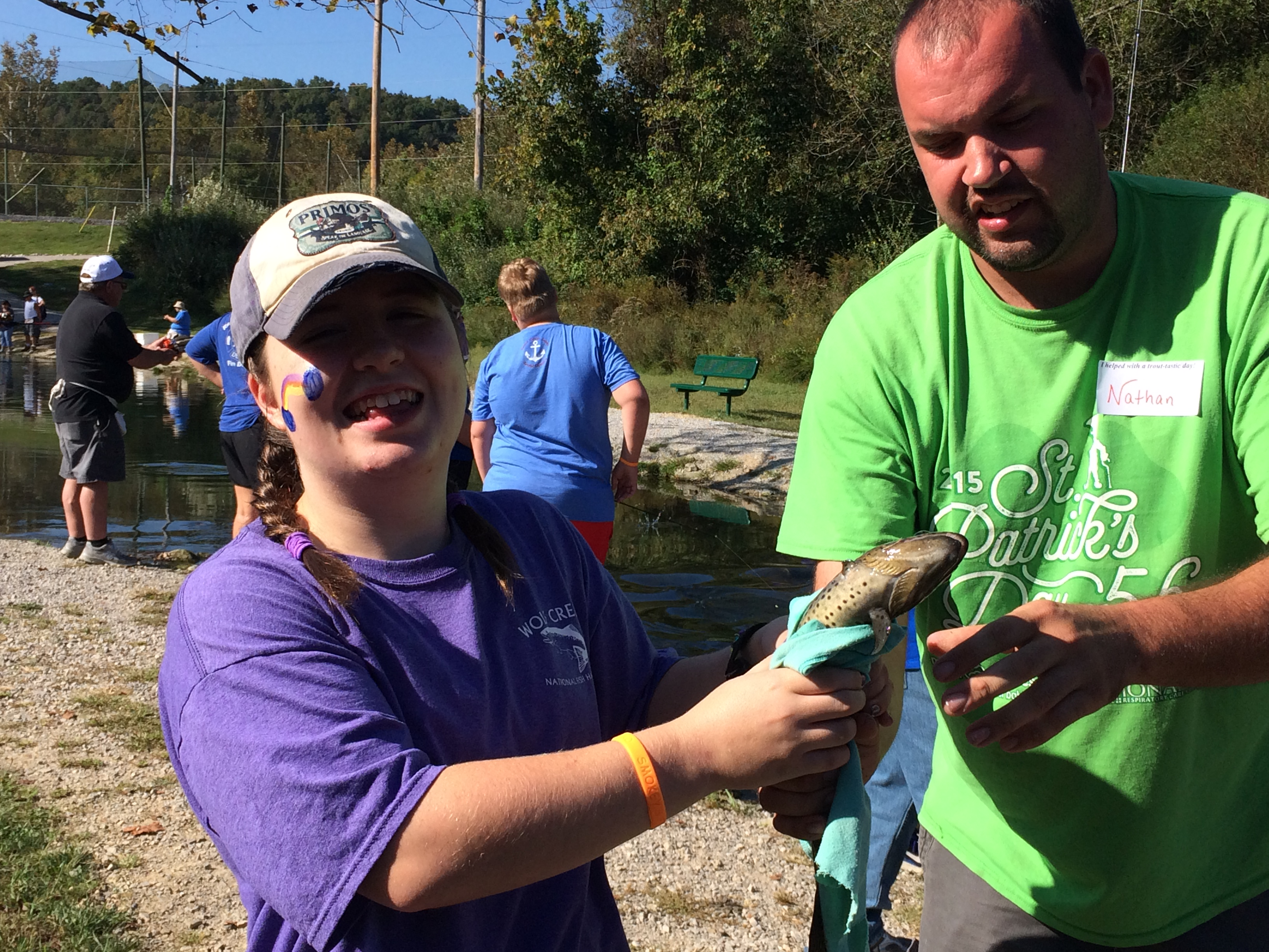 The 10th Annual Reaching for Rainbows Fishing Derby for students in Clinton and Russell Counties was held on Thursday, September 28th at Wolf Creek National Fish Hatchery.