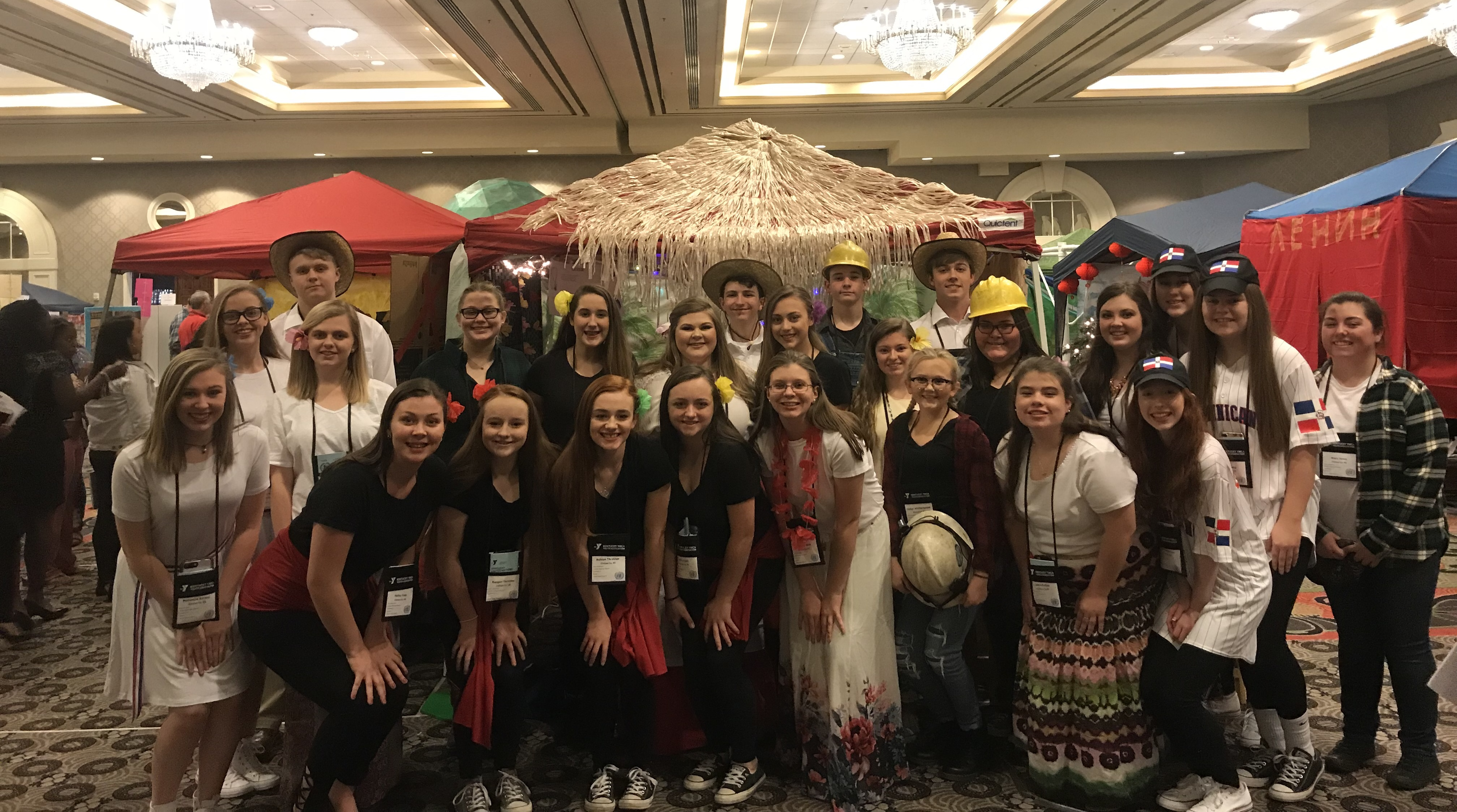 The Clinton County High School delegation attended the Kentucky United Nations Assembly (KUNA) at the Galt House in Louisville on March 11-13, 2018.