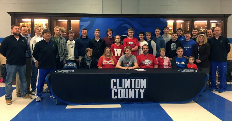 Senior Bulldog Jackson Harlan signed a national letter of intent with Western Kentucky University on Wednesday, November 14th.