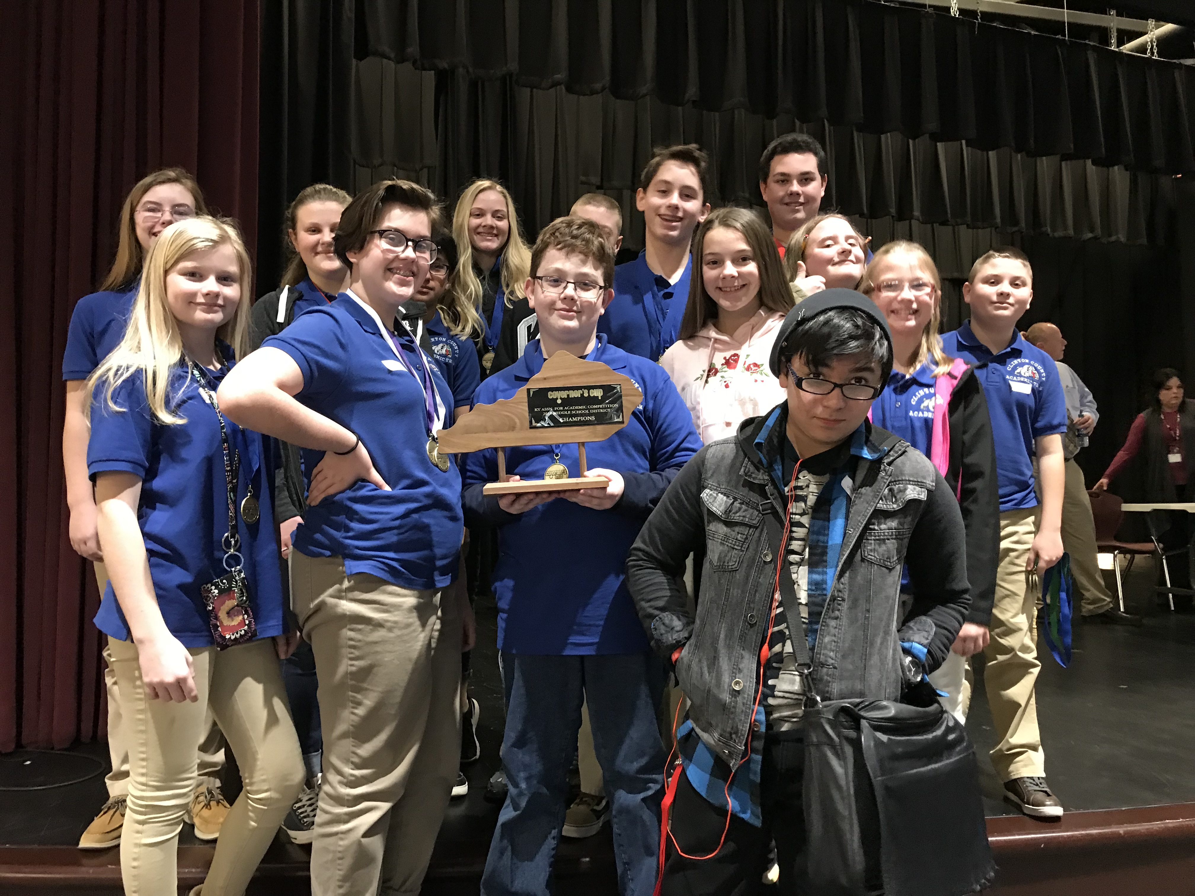 Congratulations to the Middle School Academic Team for winning the District 46 Middle School Governor's Cup Competition!