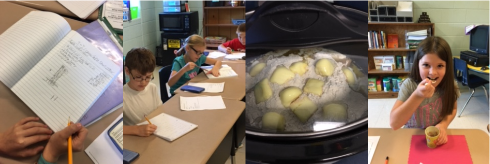 AES students enjoy a delicious lesson on sequencing using recipes!
