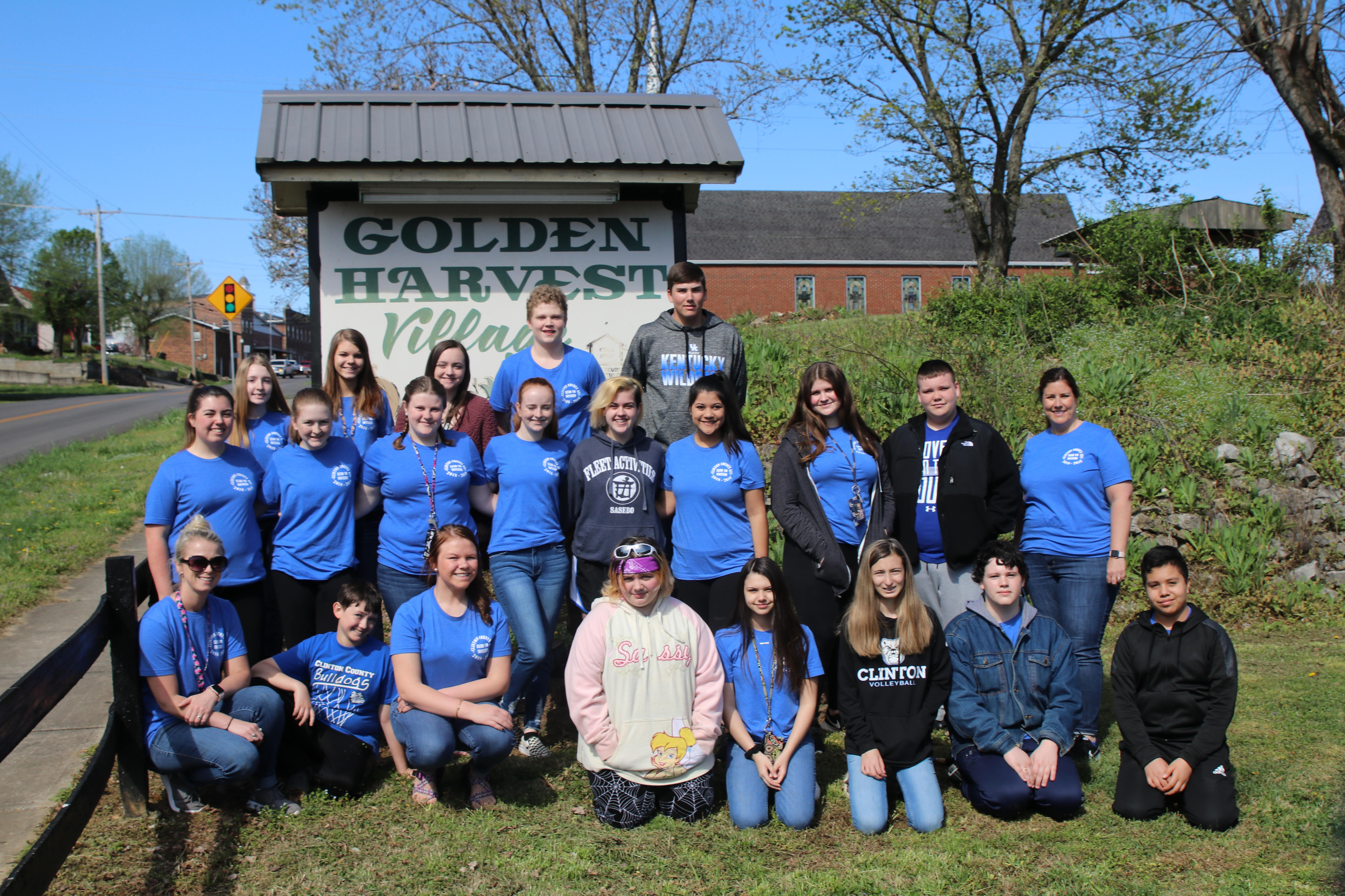The Lead to Succeed students from Clinton County Area Technology Center recently completed a service-learning project at Golden Harvest Village.