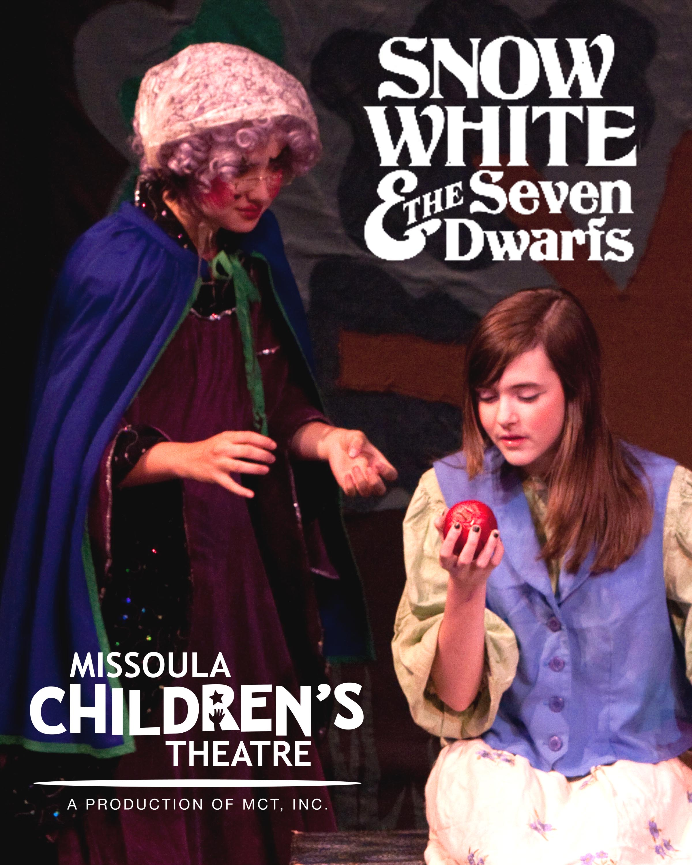 Venture into the terrifying Black Forest with Snow White and her friends this Friday, November, 9th when the Missoula Children's Theatre (MCT) and more than 50 local students perform SNOW WHITE & THE SEVEN DWARFS.
